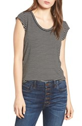 Project Social T Alta Shadow Stripe Tee Black Ivory