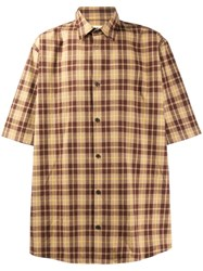 Acne Studios Oversized Checked Shirt Yellow
