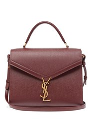 Saint Laurent Cassandra Medium Grained Leather Bag Burgundy