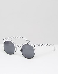 Vans Halls And Woods Polka Dot Round Cat Sunglasses White