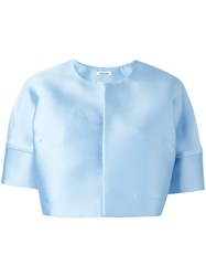P.A.R.O.S.H. Short Sleeve Cropped Jacket Blue