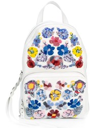 Alexander Mcqueen Floral Embroidered Backpack Women Calf Leather One Size