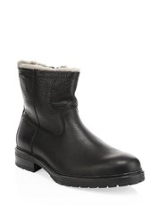 Mephisto Leonardo Leather And Shearling Boots Black Mont