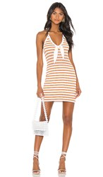 The Jetset Diaries Lost My Head Mini Dress In White. Multi Stripe