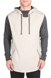 Imperial Motion Men's Restore Colorblock Hoodie Oatmeal Charcoal