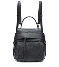 Tod's Wave Mini Leather Backpack Black