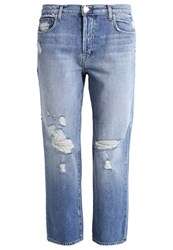 J Brand Ivy Relaxed Fit Jeans Bleach Blue Denim