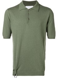 Matthew Miller Knitted Polo Shirt Green