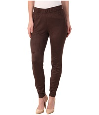 Miraclebody Jeans Gia Stretch Suede Leggings Brown Women's Casual Pants