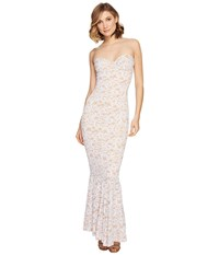 Norma Kamali Lace Corset Gown White Lace Women's Dress