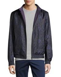 Etro Reversible Floral Print Bomber Jacket Navy