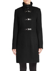 Kenneth Cole Reaction Wool Blend Toggle Coat Black