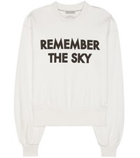 Each X Other Printed Cotton Sweater White