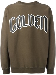 Golden Goose Deluxe Brand Typography Branded Sweatshirt Brown