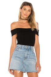 By The Way. Ami Off Shoulder Knit Bodysuit Black