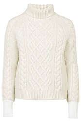 Keswick Chunky Polo Knit Jumper By Unique Cream