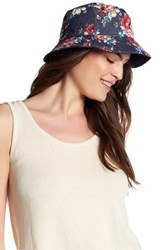 David And Young Floral Bucket Hat Blue