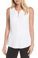 Nic Zoe Women's Easy Keyhole Tank Top Paper White