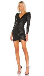 Saylor Cyan Leather Dress In Black.