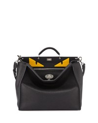 Fendi Men's Monster Eyes Peekaboo Bag Black Yellow