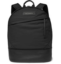 Want Les Essentiels Kastrup Leather Trimmed Shell Backpack Black