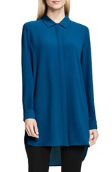 Vince Camuto Women's Tunic Shirt Port Blue