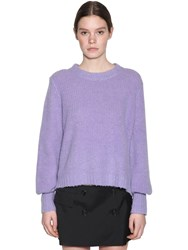 Baum Und Pferdgarten Kourtney Wool Blend Knit Sweater Lilac