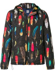 Paul Smith Feather Print Padded Jacket Polyester Xl Black