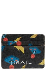 The Rail Jamie Leather Card Case Black Black Yellow Controllers
