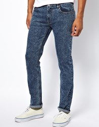 Bellfield Skinny Jeans With Acid Wash Grey