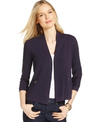 Charter Club Zipper Pocket Open Cardigan Only At Macy's