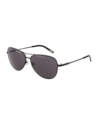Nina Ricci Metal Aviator Sunglasses Black