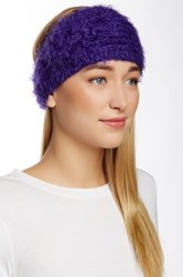 David And Young Fuzzy Flower Headwrap Purple