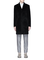 Theory 'Delancey' Alpaca Wool Coat Black