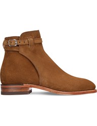 R M Williams Stockmans Suede Buckle Boot Tan
