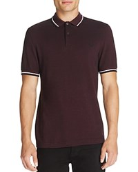 Fred Perry Twin Tipped Polo Slim Fit Mahogany Black Oxford White Black