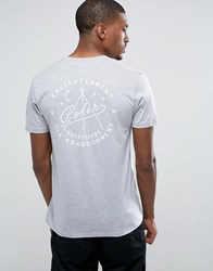 Poler T Shirt With Enlightenment Back Print Grey