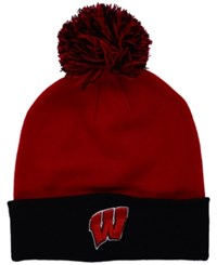 Top Of The World Wisconsin Badgers 2 Tone Pom Knit Hat