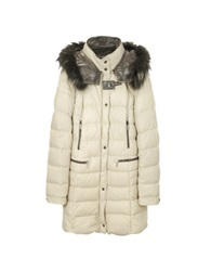 Forzieri Beige Quilted Leather Coat Brown