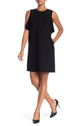 Lafayette 148 New York Kaydence Ruffle Shift Dress Black