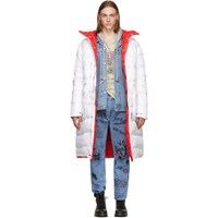 R 13 R13 White Down Long Puffer Anorak