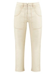 La Fetiche Andy High Rise Straight Leg Jeans Ivory