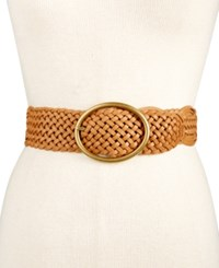 Inc International Concepts Woven Belt Only At Macy's Cognac