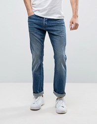 Jack And Jones Intelligence Jeans In Boxy Loose Fit Denim Blue 005