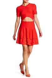 Opening Ceremony Corey Flare Skirt Red