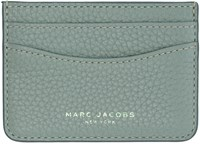 Marc Jacobs Blue Leather Gotham Card Holder