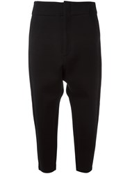 Y 3 Cropped Tapered Trousers Black