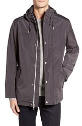 Cole Haan Men's Packable Hooded Rain Jacket