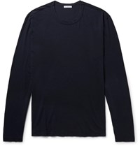 James Perse Combed Cotton Jersey T Shirt Midnight Blue