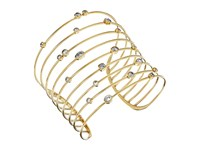 Michael Kors Mixed Shape Cz Set Stone Statement Open Cuff Bracelet Gold Bracelet